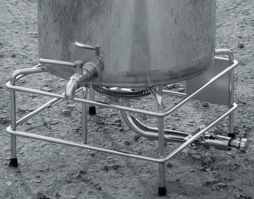 Cuve chauffage gaz avec support et brûleur gaz