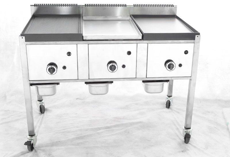 grill gaz street food inox