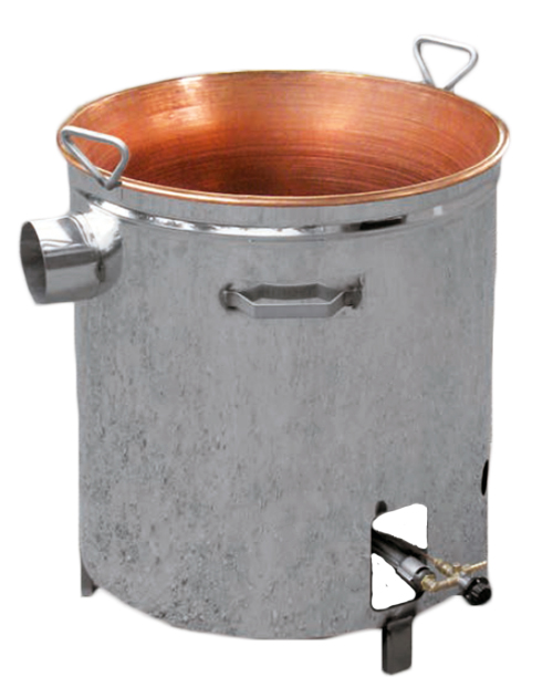 Cuve de cuisson pour confiture interieur cuivre