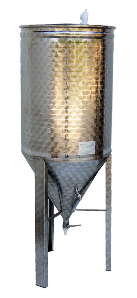 Réservoir inox, fermenteur fond conique