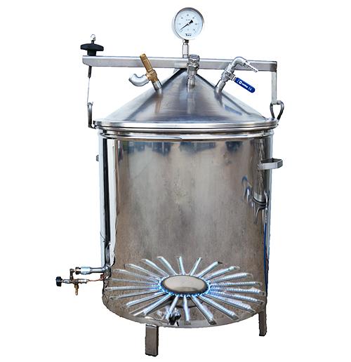 Pasteurisateur inox chauffage gaz avec bruleur